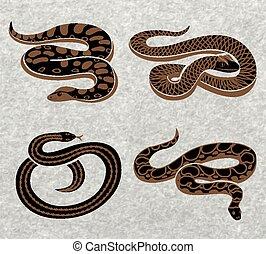 Black Snakes Set