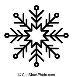 black snowflake on white background