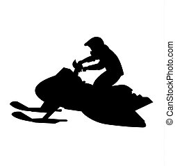 Black snowmobile silhouette