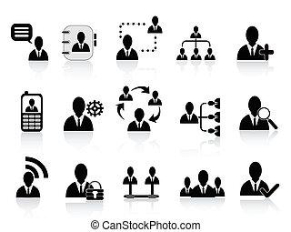 black social communication icons