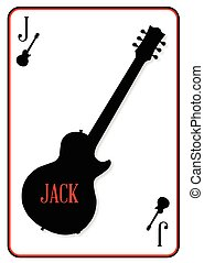 A guitar used as the Jack motif in a playing card