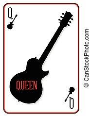 Black Solid Guitar Queen