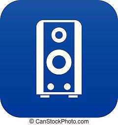 Black sound speaker icon digital blue