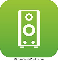 Black sound speaker icon digital green