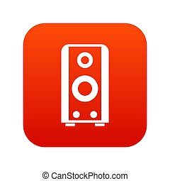 Black sound speaker icon digital red