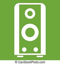 Black sound speaker icon green