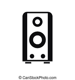 Black sound speaker icon, simple style
