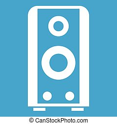 Black sound speaker icon white
