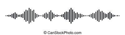 Black Sound waves