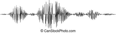 Black sound waves isolated on white background. Vector ...