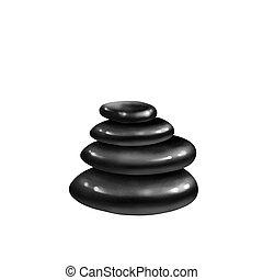 Black Spa Stones isolated
