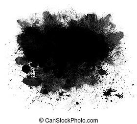Black Spatter Grunge Background