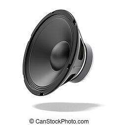Black speaker isolated on a white background