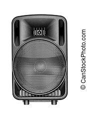 black speaker isolated on white background