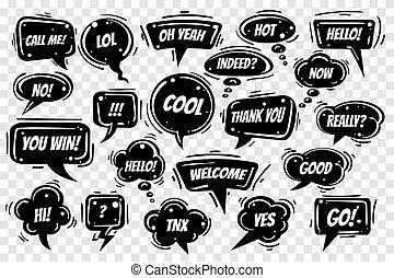 Black Speech Bubbles set