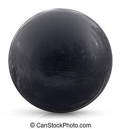 Black sphere ball round button basic circle geometric shape