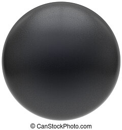 Black sphere round button matted ball basic circle object