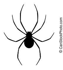 Design of vector black spider