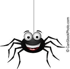 black spider  - vector illustration of black spider