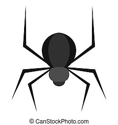 Black spider icon isolated