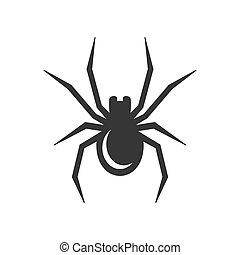 Black Spider Icon. Vector