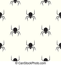 Black spider pattern seamless