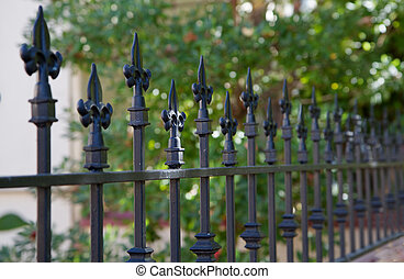 Black spike fence