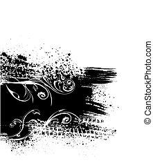 Black splash background