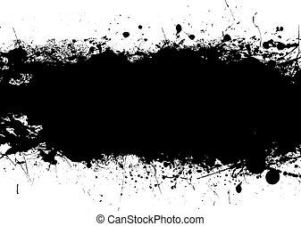 black splat band