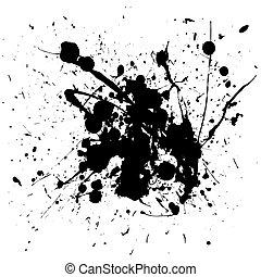 black , splat, inkt