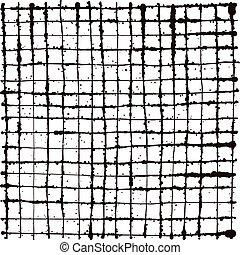 black splatter grunge line grid