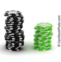 black , splinter, casino, groene, opperen