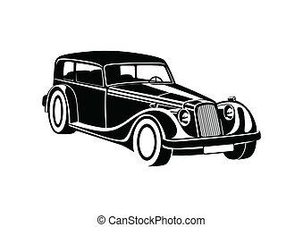 Black sport classic automobile