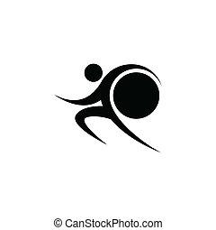 Black sportman and world