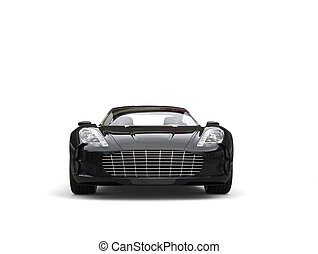 Black sports car - front view