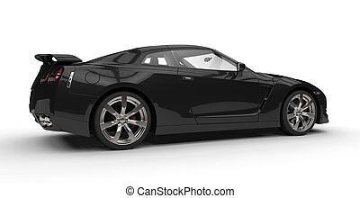 Black Sports Car Side