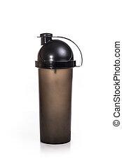 black sports shaker isolated on white background