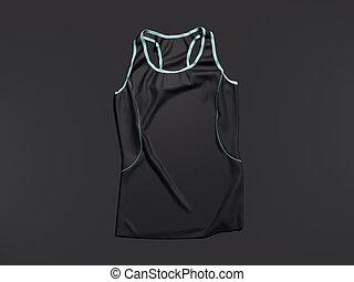 Black sports shirt. 3d rendering