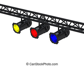 Black spot lights