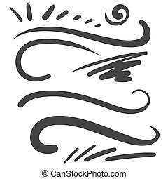Black squiggle Curly Q swoosh text font tail - for shirt...