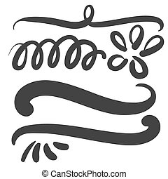 Black squiggle swoosh text font tail - Black squiggle swoosh...