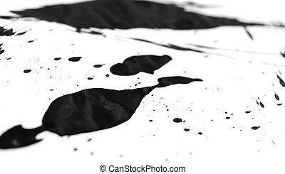 Black stains. On a white background.
