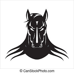 black stallion - suitable for team identity, sport club logo...