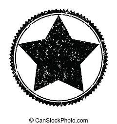 black stamp