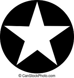 Black stamp with star