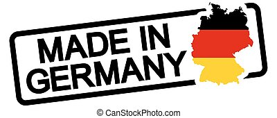 black stamp with text Made in Germany