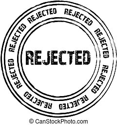 Black stamps for rejected. vector.