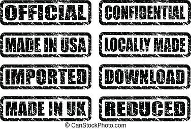black stamps