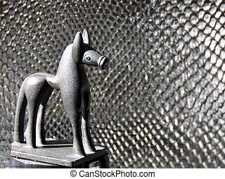 Black standing horse figurine