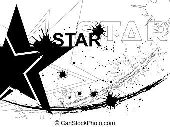Black star background design